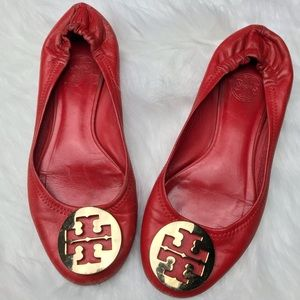 Tory Burch Red Ballet Flats Sz 6